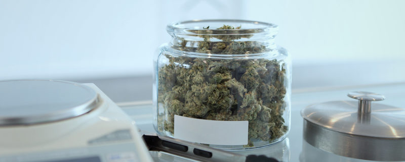 Photo; Jar of cannabis
